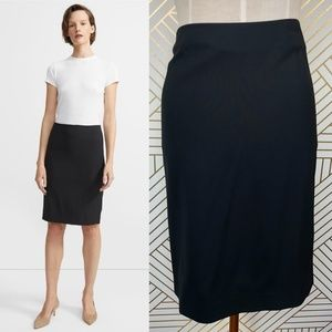 Theory Stretch Wool Pencil Skirt in Black